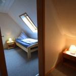Kinderschlafzimmer, rote Ferienwohnung, Ferienhof Lührs, Schneverdingen, Lüneburger Heide