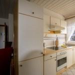 Küchenzeile, gelbe Ferienwohnung, Ferienhof Lührs, Schneverdingen, Lüneburger Heide